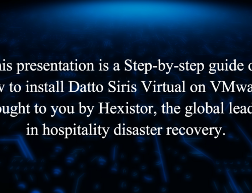 How to setup Datto Siris Virtual on VMWare (for Vsphere Client)